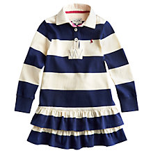 Buy Little Joule Girls' Aubrey Rugby Dress, Navy/White Online at johnlewis.com