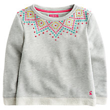 Buy Little Joule Girls' Jocasta Embroidered Sweatshirt, Grey Online at johnlewis.com
