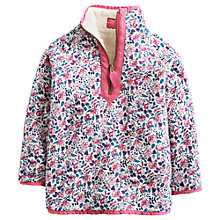 Buy Little Joule Girls' Cosette Ditsy Floral Reversible Fleece, multi Online at johnlewis.com