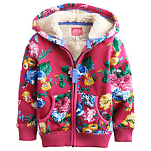 Buy Little Joule Girls' Alicia Hood Floral Hoodie, Pink Online at johnlewis.com