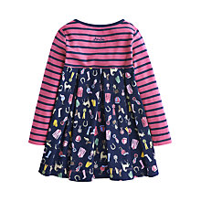 Buy Little Joule Girls' Hayley Horse Dress, Navy/Pink Online at johnlewis.com
