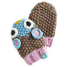 Buy Baby Joule Knitted Owl Amie Gloves, Multi Online at johnlewis.com