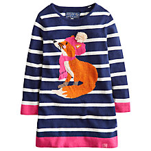 Buy Little Joule Girls' Millicent Striped Dress, Navy Online at johnlewis.com