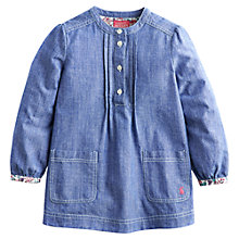 Buy Little Joule Girls' Anya Chambray Tunic, Blue Online at johnlewis.com