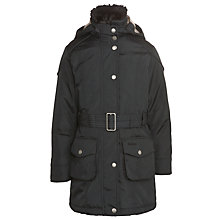 Buy Barbour Girls' Outlaw Coat, Navy Online at johnlewis.com