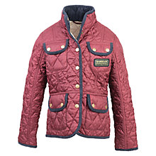 Buy Barbour Girls' Vintage International Quilt Jacket, Pink Online at johnlewis.com