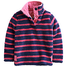 Buy Little Joule Girls' Merridie Fleece, Navy/Pink Online at johnlewis.com
