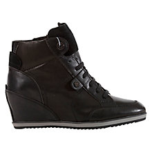 Buy Geox Illusion Leather Wedge Sneaker Trainers Online at johnlewis.com