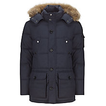Buy Tommy Hilfiger Sean Parka Coat, Graphite Online at johnlewis.com
