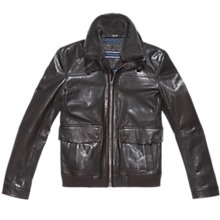 Buy Tommy Hilfiger Cole Leather Jacket Online at johnlewis.com