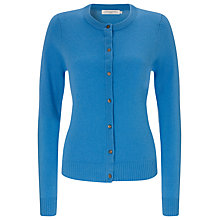 Buy John Lewis Crew Neck Cashmere Cardigan, Tangerine Online at johnlewis.com