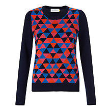 Buy Collection WEEKEND by John Lewis Diamond Intarsia Jumper, Navy/Multi Online at johnlewis.com