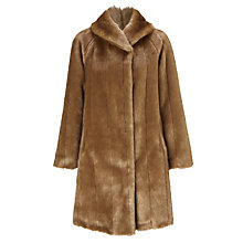 Buy John Lewis Faux Fur Swing Coat Online at johnlewis.com