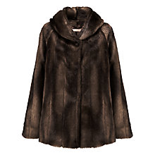 Buy John Lewis Faux Fur Mid Length Coat Online at johnlewis.com