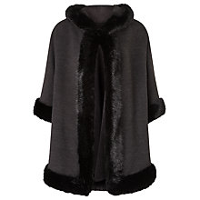 Buy John Lewis Maria Hooded Cape, Grey Online at johnlewis.com