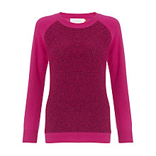 Buy Collection WEEKEND by John Lewis Texture Block Cashmere Jumper Online at johnlewis.com