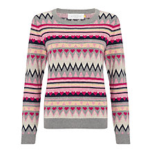 Buy Collection WEEKEND by John Lewis Heart & Diamond Jumper, Multi Online at johnlewis.com