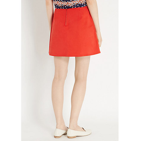 Buy Oasis Fleur Skirt, Rich Red Online at johnlewis.com