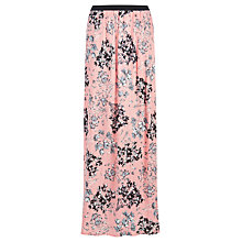 Buy Warehouse Daisy Print Maxi Skirt, Pink Online at johnlewis.com