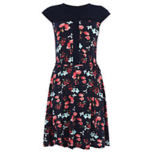Buy Oasis Rose Blossom Print Skater Dress, Multi/Blue Online at johnlewis.com
