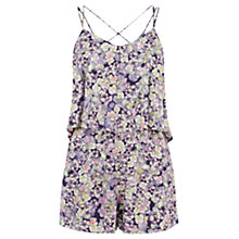 Buy Warehouse Fluro Pansy Cami Playsuit, Multi Online at johnlewis.com