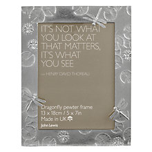 Buy Lancaster & Gibbins Dragonfly Frame, Pewter Online at johnlewis.com