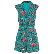 Buy Oasis Tropical Forest Playsuit, Multi Green Online at johnlewis.com