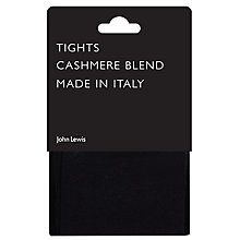 Buy John Lewis Viscose and Cashmere Blend Tights, Navy Online at johnlewis.com