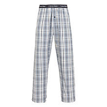 Buy Calvin Klein Woven Max Plaid Lounge Pants, Grey Online at johnlewis.com
