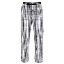 Buy Calvin Klein Francis Plaid Print Woven Lounge Pants, Black/White Online at johnlewis.com