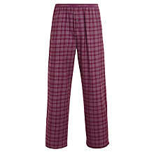 Buy Calvin Klein Flannel Print Douglas Plaid Lounge Trousers, Plum Online at johnlewis.com