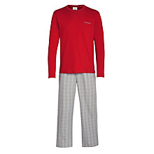 Buy Calvin Klein Plaid Pyjama Set, Red Online at johnlewis.com