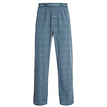 Buy Calvin Klein Woven Dylan Plaid Lounge Pants, Blue Online at johnlewis.com