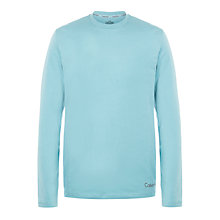 Buy Calvin Klein Logo Crew Neck Long Sleeve T-Shirt, Pale Blue Online at johnlewis.com