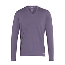 Buy Calvin Klein Long Sleeve Lounge T-Shirt, Purple Online at johnlewis.com