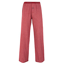 Buy Calvin Klein Flannel Hunter Check Lounge Pants, Red Online at johnlewis.com