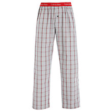 Buy Calvin Klein Woven Luke Plaid Lounge Pants, Red Online at johnlewis.com