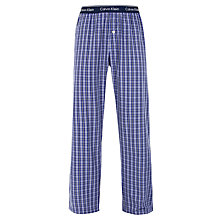 Buy Calvin Klein Woven Stew Plaid Check Lounge Pants, Blue Online at johnlewis.com