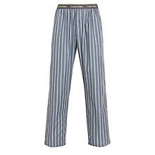 Buy Calvin Klein Pendleton Stripe Print Woven Lounge Trousers, Grey Online at johnlewis.com