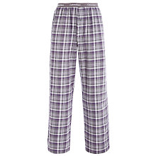 Buy Calvin Klein Flannel Michael Plaid Lounge Pants, Grey Online at johnlewis.com