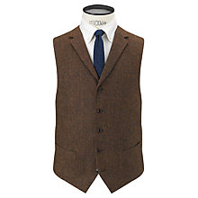 Buy JOHN LEWIS & Co. Bennett Donegal Waistcoat, Brown Online at johnlewis.com