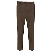 Buy JOHN LEWIS & Co. Tailored Bennett Donegal Suit Trousers, Brown Online at johnlewis.com