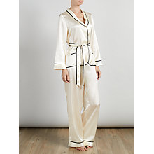Buy Somerset by Alice Temperley Tuxedo Pyjama Set, Cream Online at johnlewis.com