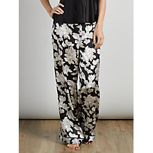 Buy Somerset by Alice Temperley Winter Floral Pyjama Pants, Black / Cream Online at johnlewis.com