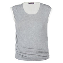Buy Violeta by Mango Contrast Back T-Shirt, Medium Grey Online at johnlewis.com