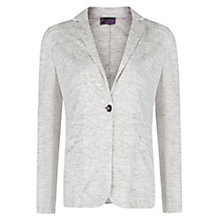 Buy Violeta by Mango Unstructured Linen Blazer, Light Grey Online at johnlewis.com