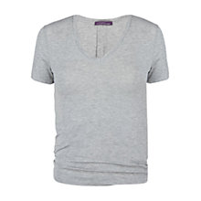 Buy Violeta by Mango V-Neck T-Shirt, Medium Grey Online at johnlewis.com