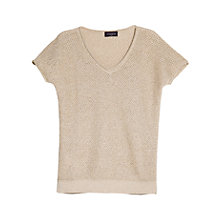 Buy Violeta by Mango Fancy Knit Top, Natural White Online at johnlewis.com