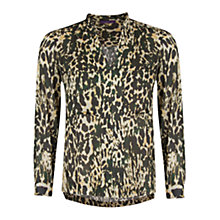 Buy Violeta by Mango Camo Print Blouse, Light Brown Online at johnlewis.com