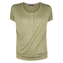 Buy Violeta by Mango Button T-Shirt, Green Online at johnlewis.com
